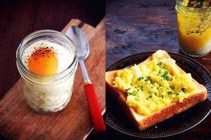 レンジで作るエッグスラット