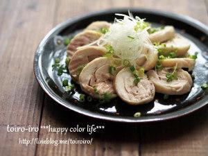 電子レンジで作る塩鶏チャーシュー