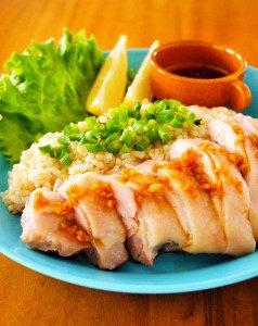レンジで3分!シンガポールチキンライス(海南鶏飯)