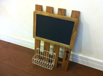 すのこで作るカフェ風メッセージボード