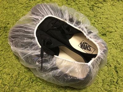 両行の荷造りのコツ_靴にシャワーキャップ