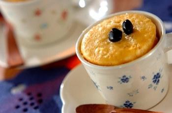 レンジで作るケーキ_マグカップ米粉ケーキ